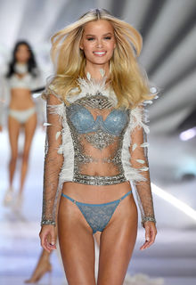 Frida Aasen sexy runway and backstage  at VS 2018