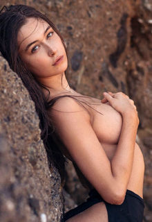 Elsie Hewitt sexy and topless for photoshoot by Christopher von Steinbach