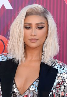 Blonde Shay Mitchell leggy at 2019 iHeartRadio Music Awards in LA - March 14, 2019