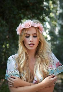 Blonde Claire Holt in nature photoshoot by Gemma Pranita, 2015