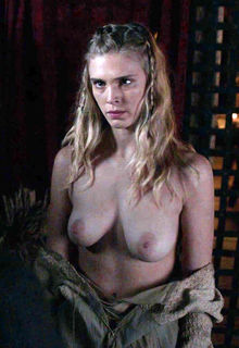 Gaia Weiss nude tits and ass in Vikings s02 (2014)