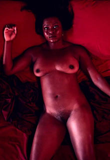 Yetide Badaki nude tits and hairy pussy in American Gods 1x02 - (2017)