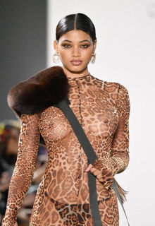 Danielle Herrington walks the runway for the LaQuan Smith Fashion Show - February 10, 2019