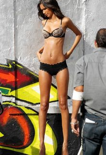 Lais Ribeiro filming Victoria's Secret commercial in Miami - February 09, 2013