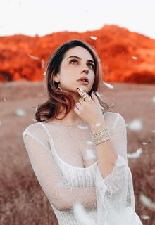 Adelaide Kane in nature photoshoot by Natasha Wilson - July 2018