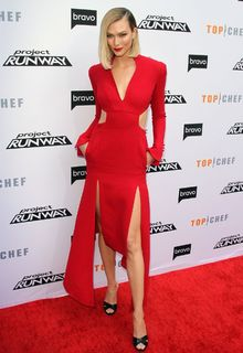 Karlie Kloss in red dress at Bravo's ''Top Chef'' and ''Project Runway'' - A Night Of Food and Fashion in Los Angeles - April 16, 2019