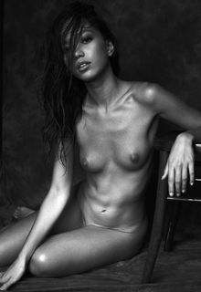Kitrysha nude black-&-white photoshoot by Davide de Dea