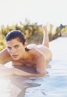 Lake Bell nude in a pool photoshoot