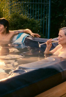 Barbara Garrick and May Hongk nude in a pool in Tales of the City s04-09 (2019)