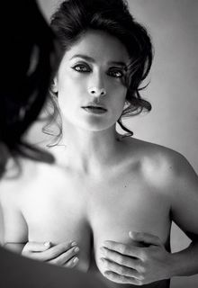 Salma Hayek topless for Allure magazine - August 2015