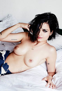 Lina Esco see through and topless for Ellen Von Unwerth photoshoot