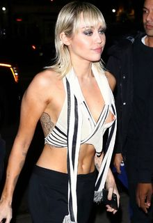 Miley Cyrus nipple slip outside the Bowery Hotel in New York - February 12, 2020