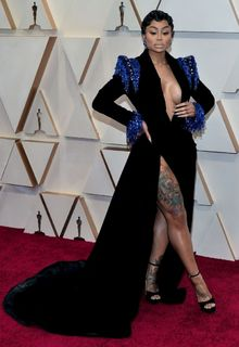 Blac Chyna sexy legs and cleavage at 92nd annual Academy Awards at the Dolby Theater in Los Angeles - February 09, 2020