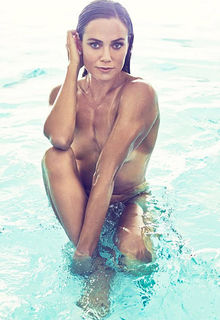 Natalie Coughlin nude in a pool