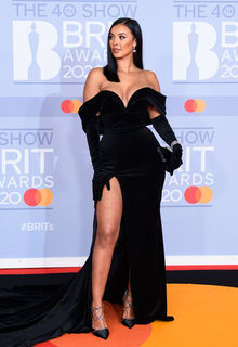 Maya Jama sexy at The BRIT Awards 2020 in London - February 18, 2020