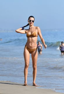 Alessandra Ambrosio in a bikini at a beach in Malibu - August 01, 2020