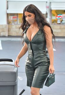 Kim Kardashian at a gas station in Calabasas - July 06, 2020