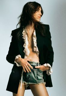 English-French actress Charlotte Gainsbourg sexy for Marie Claire, France - May 2021