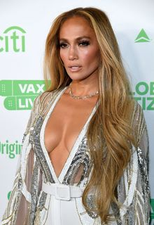 Jennifer Lopez cleavage at Global Citizen Vax Live at SoFi Stadium in Inglewood, California - May 02, 2021
